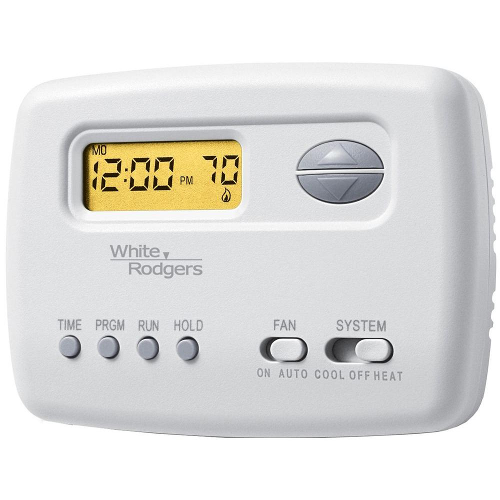 White Rodgers Single Stage Digital 5/2 Day Programmable Thermostat ...
