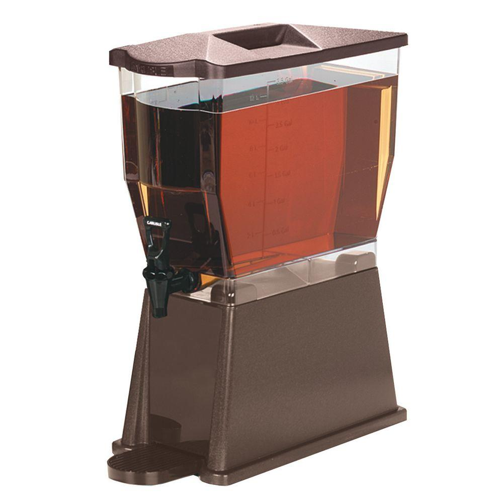 3 gal. Single Reservoir Premium Trim Beverage Dispenser in Dark Brown