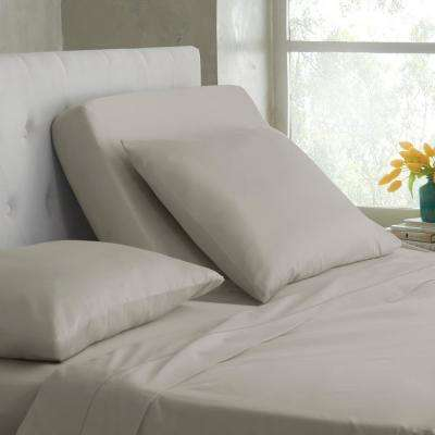 Split King T400 5-Piece Silver Lining Cotton King Sheet Set