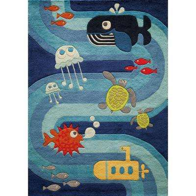 Lil Mo Whimsy Blue 8 ft. x 10 ft. Indoor Area Rug