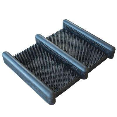 15 in. x 12.5 in. Heavy-Duty Rubber Boot and Shoe Scrub Brush Mat