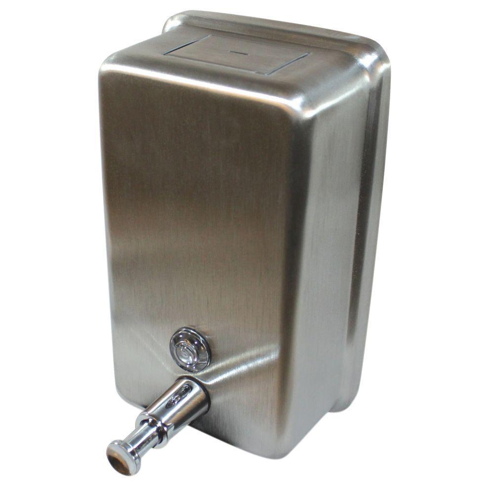 Captivating 1183 Ml Vertical Soap Dispenser Manual In Stainless Steel