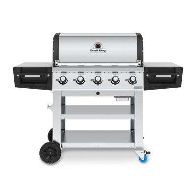 Regal S520 PRO Commercial 5-Burner Natural Gas Grill in Stainless Steel