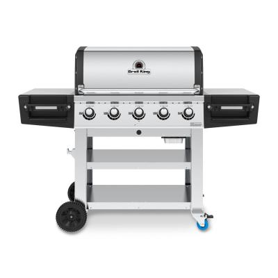 Regal S520 PRO Commercial 5-Burner Propane Gas Grill in Stainless Steel