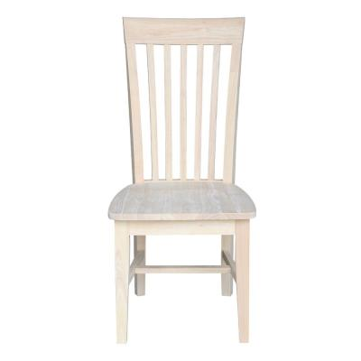 Unfinished Wood Mission Dining Chair Set Of 2