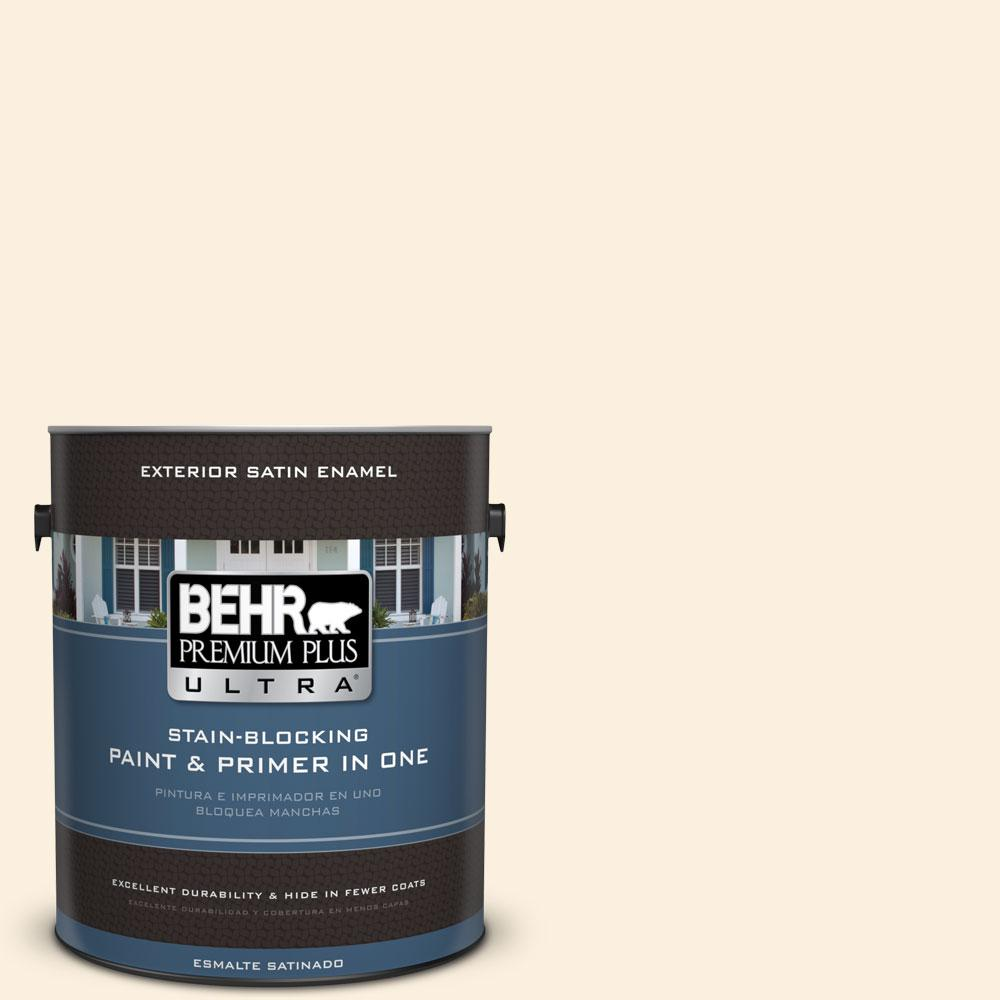 BEHR Premium Plus Ultra 1-gal. #M260-1 String Cheese Satin Enamel Exterior Paint