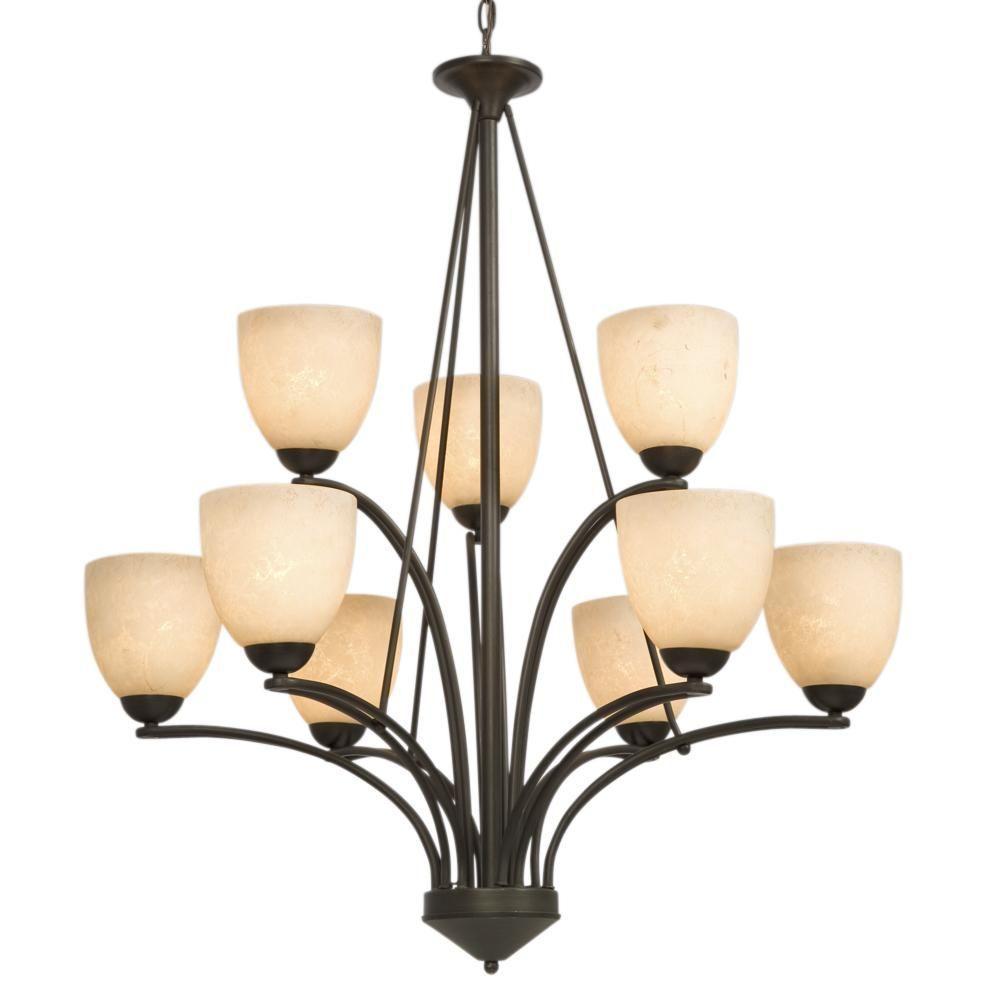 Filament Design Negron 9-Light Oil Rubbed Bronze Incandescent Chandelier