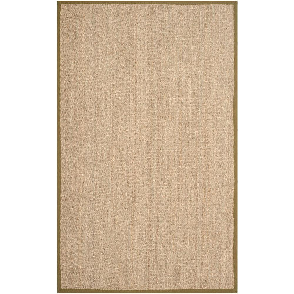 Natural Fiber Beige/Olive 5 ft. x 8 ft. Area Rug
