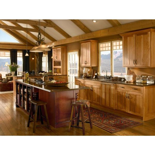 Reviews For Kraftmaid 15x15 In Cabinet Door Sample In Hamilton Hickory In Honey Spice Rdcds Hd Ac5h4 Hsh The Home Depot