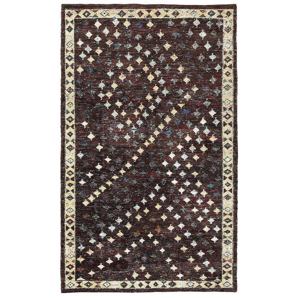 LR Resources Nisha Brown 9 ft. x 12 ft. Hand Knotted Indoor Area Rug