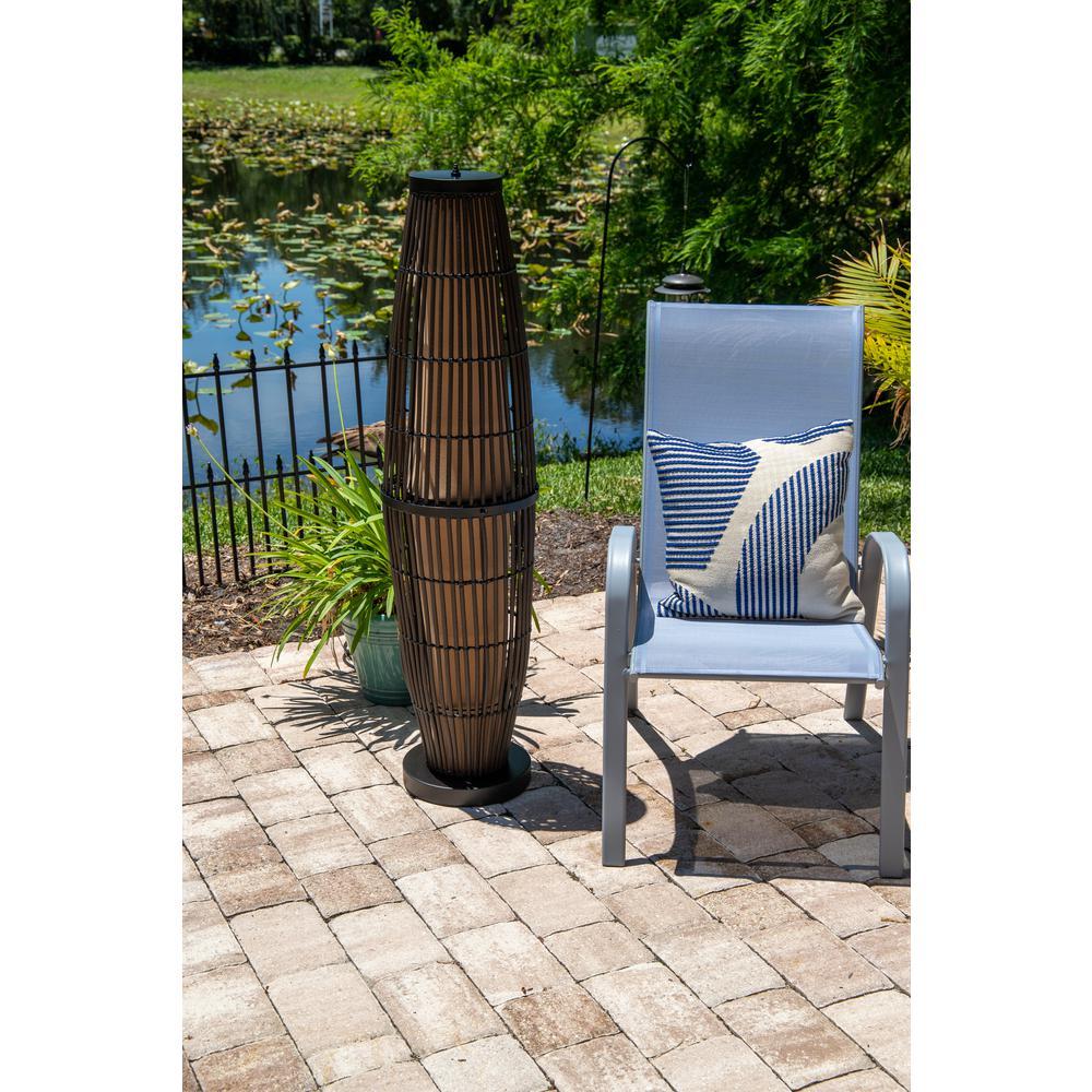 Rattan Outdoor Floor Lamp