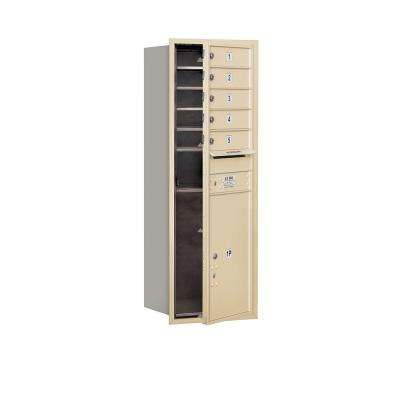 48 in. H x 16 3/4 in. W Sandstone Front Loading 4C Horizontal Mailbox with 5 MB1 Doors/1 PL6