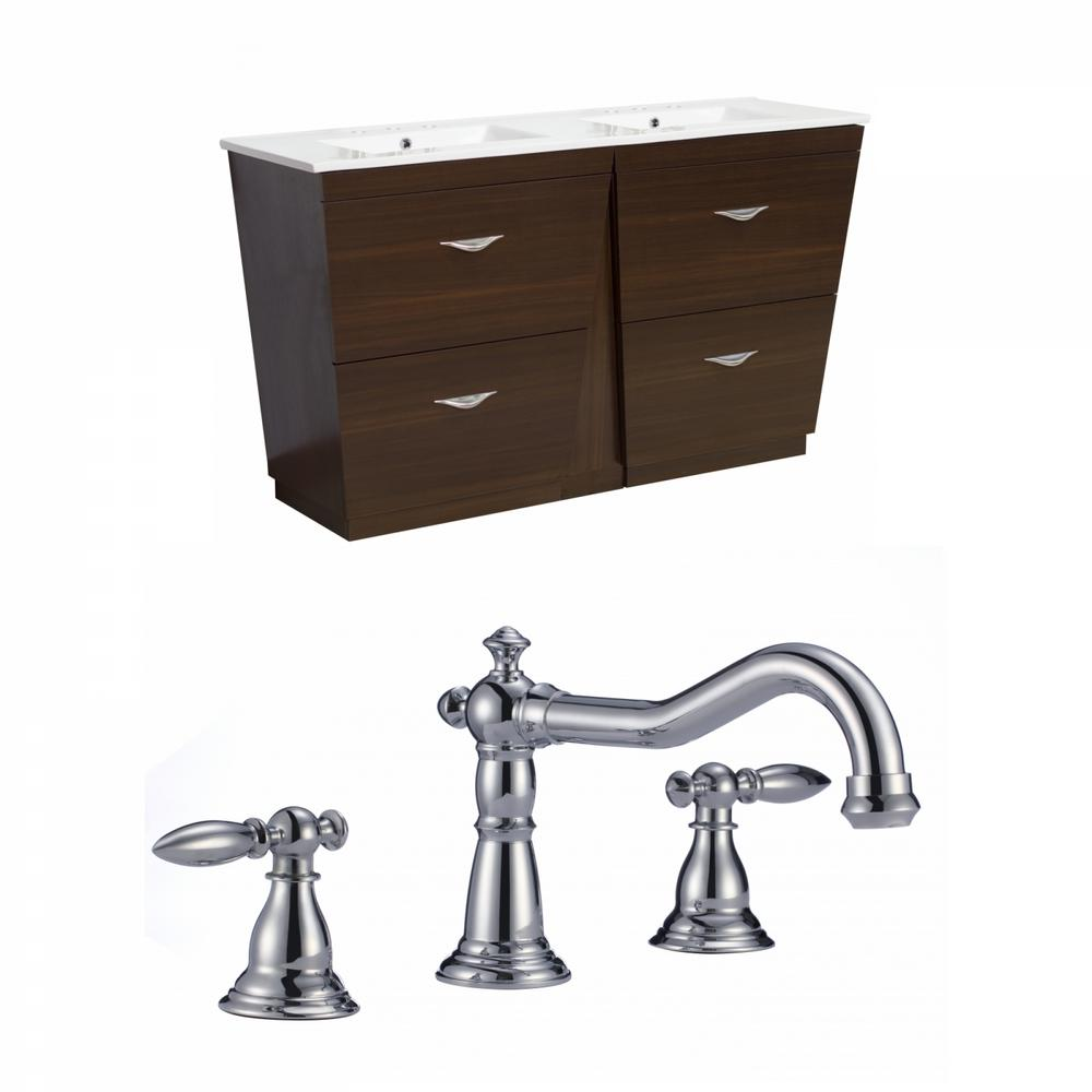 16 Gauge Sinks 59 In W X 18 In D Bath Vanity In Wenge With Ceramic Vanity Top In White With White Basin 16gs 9062 The Home Depot