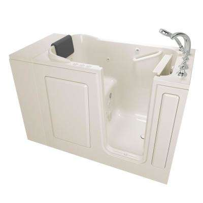 Gelcoat Premium Series 48 in. Right Hand Walk-In Whirlpool and Air Bathtub in Linen