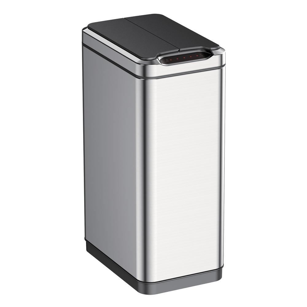 13 Gal. Phantom Sensor Trash Can in Stainless