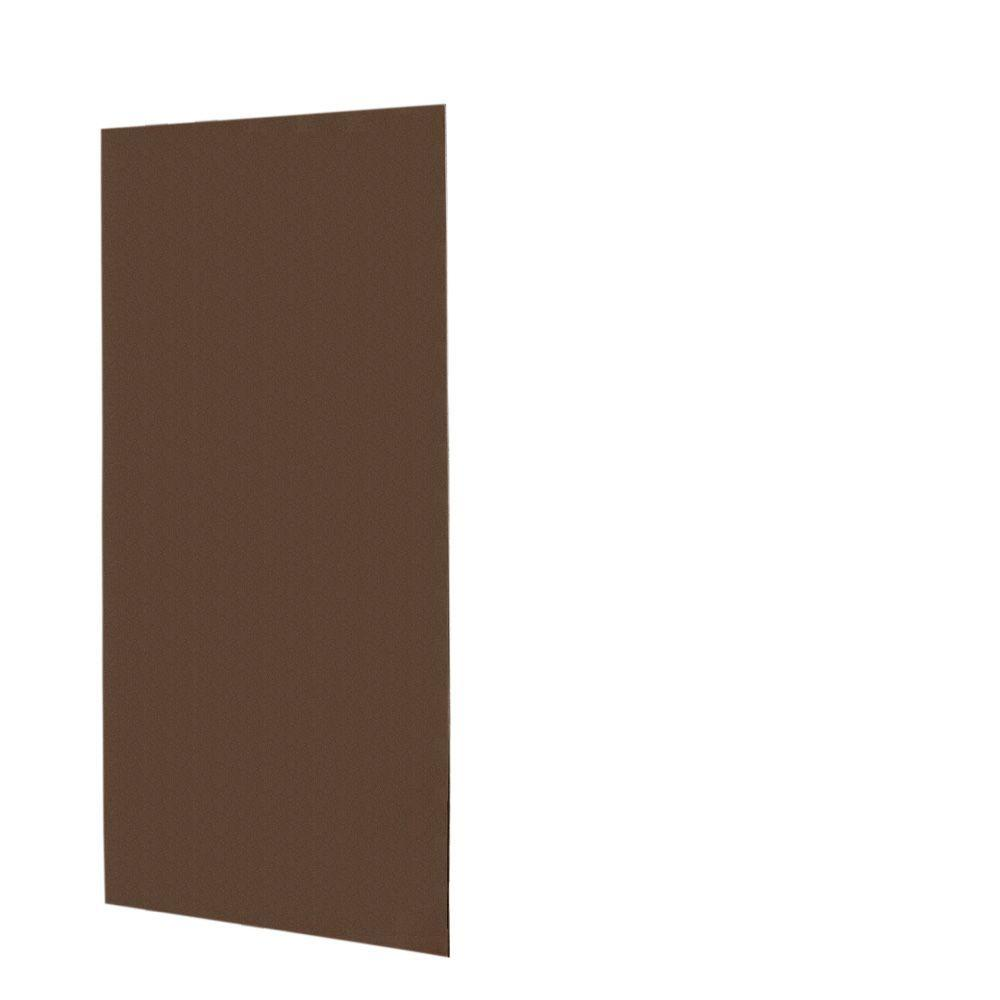 Swanstone 1/4 in. x 48 in. x 96 in. One Piece Easy Up Adhesive Shower Wall Panel in Acorn-DISCONTINUED
