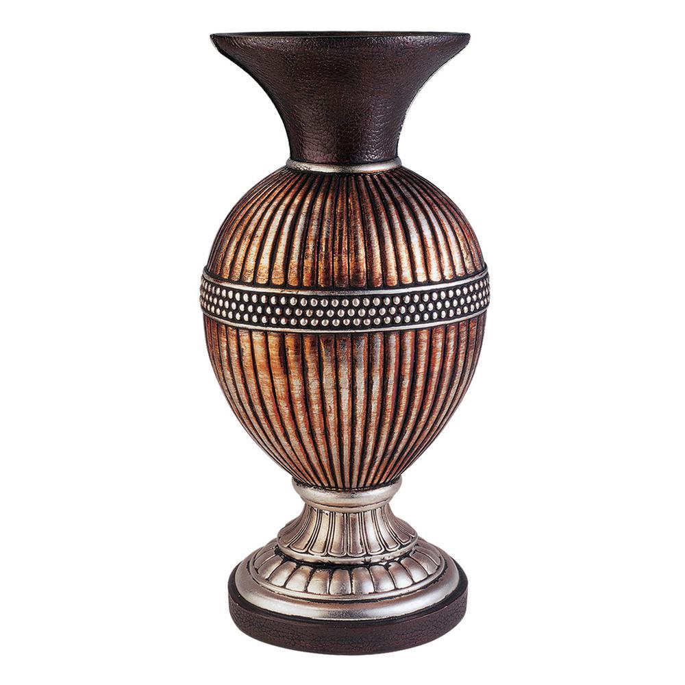 Davina Bronze Polyresin Decorative Vase