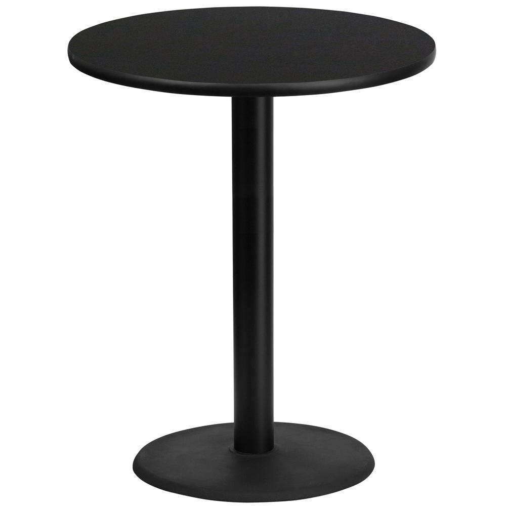 Flash furniture 36 in round black laminate table top with 24 in round black laminate table top with 24 in round bar watchthetrailerfo