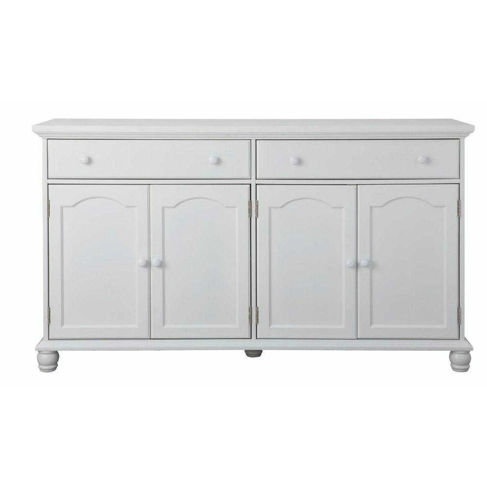 Charming Harwick Antique White Buffet
