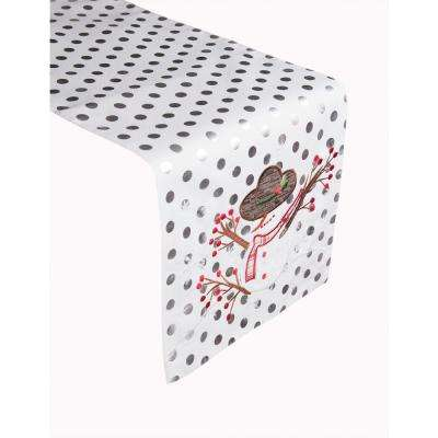 Snowy Snowman 100% Polyester Table Runner