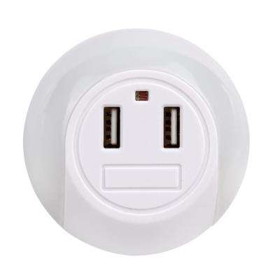 2.1 Amp LED Automatic Night Light with 2 USB Port