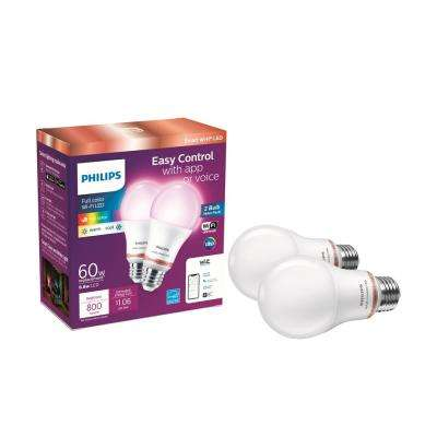 Dimmable Fi Smart Color Connected White Tunable LED 60 Wi Bulb2 Wireless Watt Wiz Light Pack A19 Equivalent and oxBeWrCd