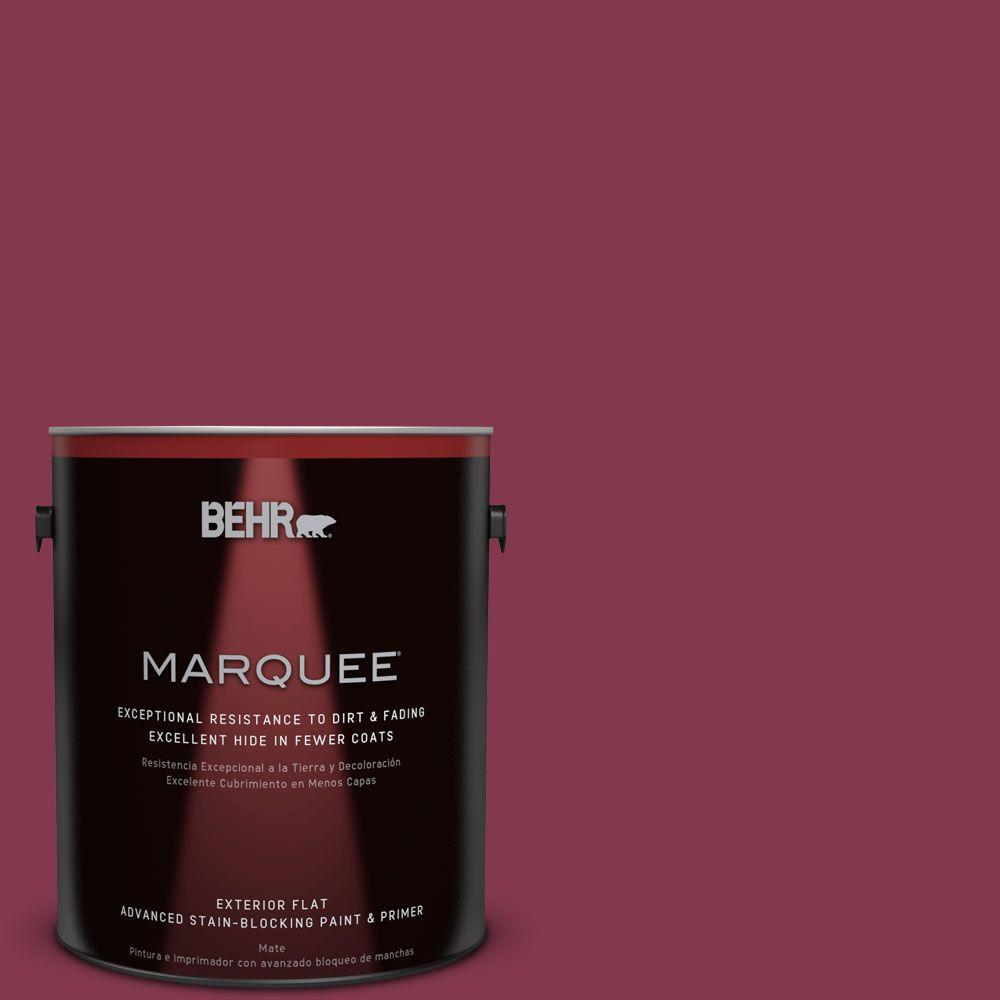 BEHR MARQUEE 1-gal. #S-H-100 Exotic Flowers Flat Exterior Paint, Reds/Pinks