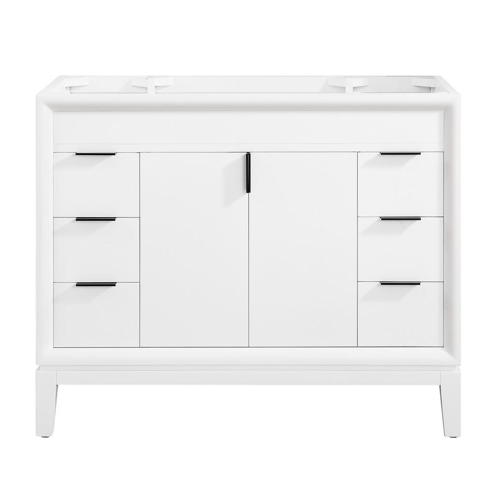 Emma 42 in. W x 21.5 in. D x 34 in. H Bath Vanity Cabinet Only in White