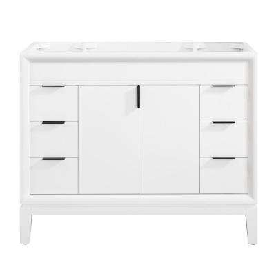 Emma 42 in. W x 21.5 in. D x 34 in. H Bath Vanity Cabinet Only in White