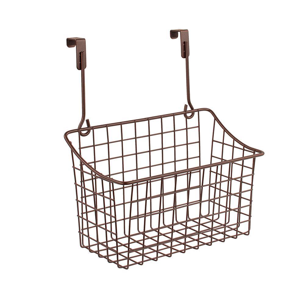 Grid 10.125 in. W x 6.625 in. D x 11.25 in. H Over the Cabinet Medium Basket in Bronze