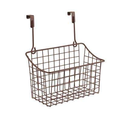 Grid 10.125 in. W x 6.625 in. D x 11.25 in. H Over the Cabinet Medium Basket in Bronze