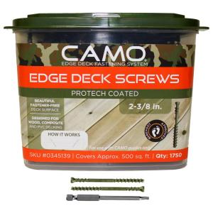 CAMO 2-3/8 inch ProTech Coated Trimhead Deck Screw (1750-Count) by CAMO
