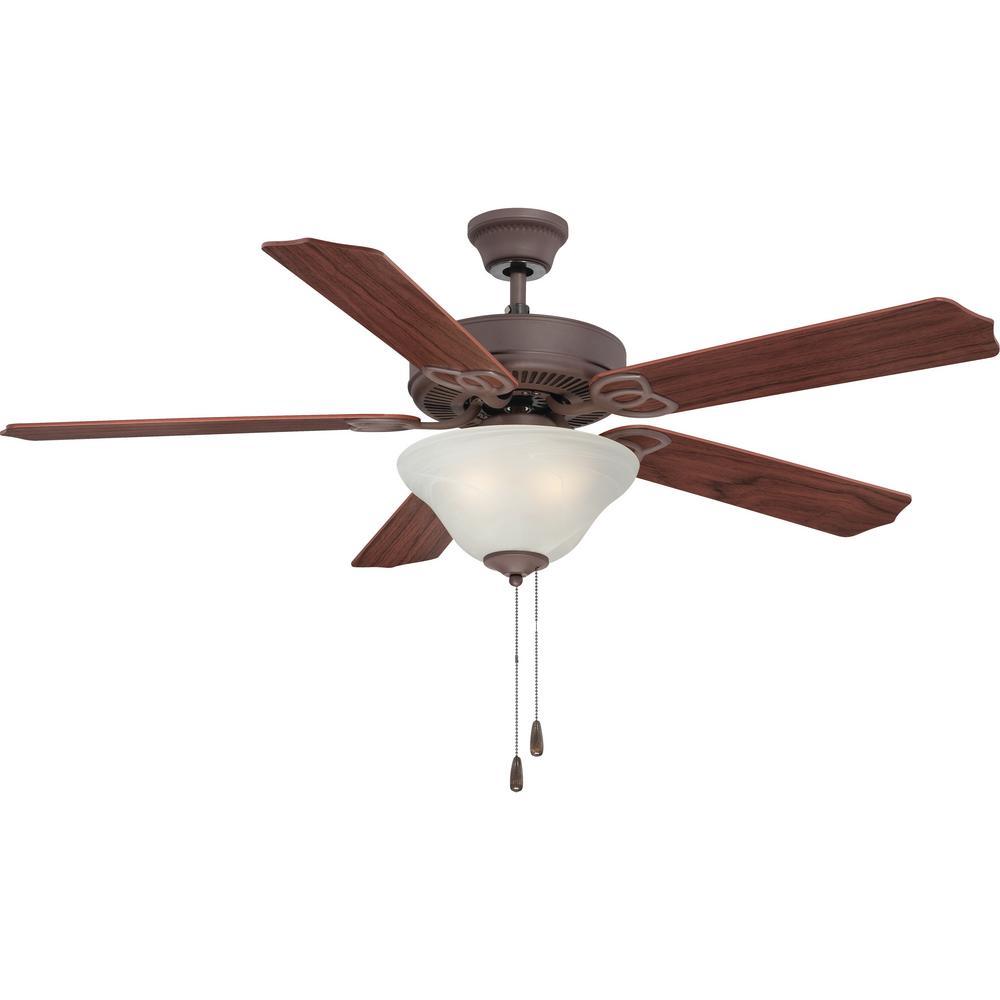 Marti 52 in. Indoor Antique Bronze Ceiling Fan with Light Kit