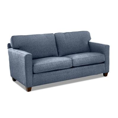 Carter 77 in. Denim Fabric 2-Seater Sofa with Removable Cushions
