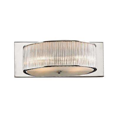Somerset 2-Light Chrome Vanity Light with Crystal Glass