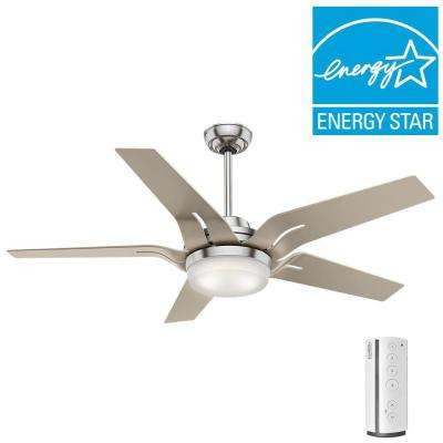 Correne 56 in. LED Indoor Brushed Nickel Ceiling Fan