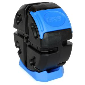 19 Gal. Half Size Rolling Composter in Blue