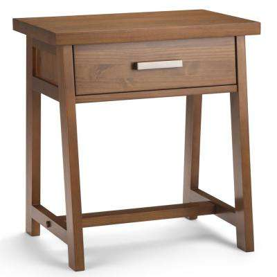 Sawhorse 1-Drawer Medium Saddle Brown Nightstand