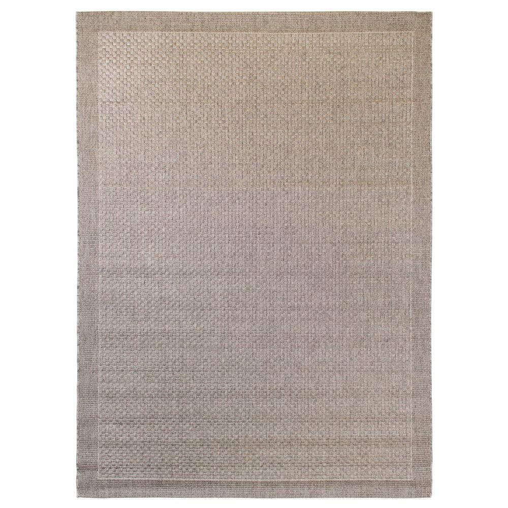 Balta Us Melbourne Grey Polypropylene 8 Ft X 10 Indoor Outdoor Area Rug 390160882403051 The Home Depot