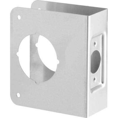 1-3/4 in. x 4-1/2 in. Thick Solid Brass Lock and Door Reinforcer 2-1/8 in. Single Bore 2-3/8 in. Backset