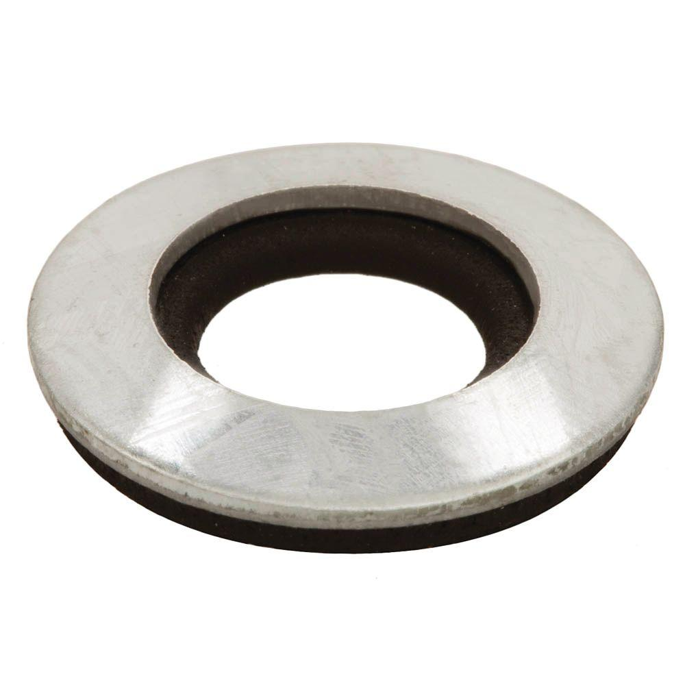 4-Pieces 1/4 in. Galvanized Bonded Sealing Washer