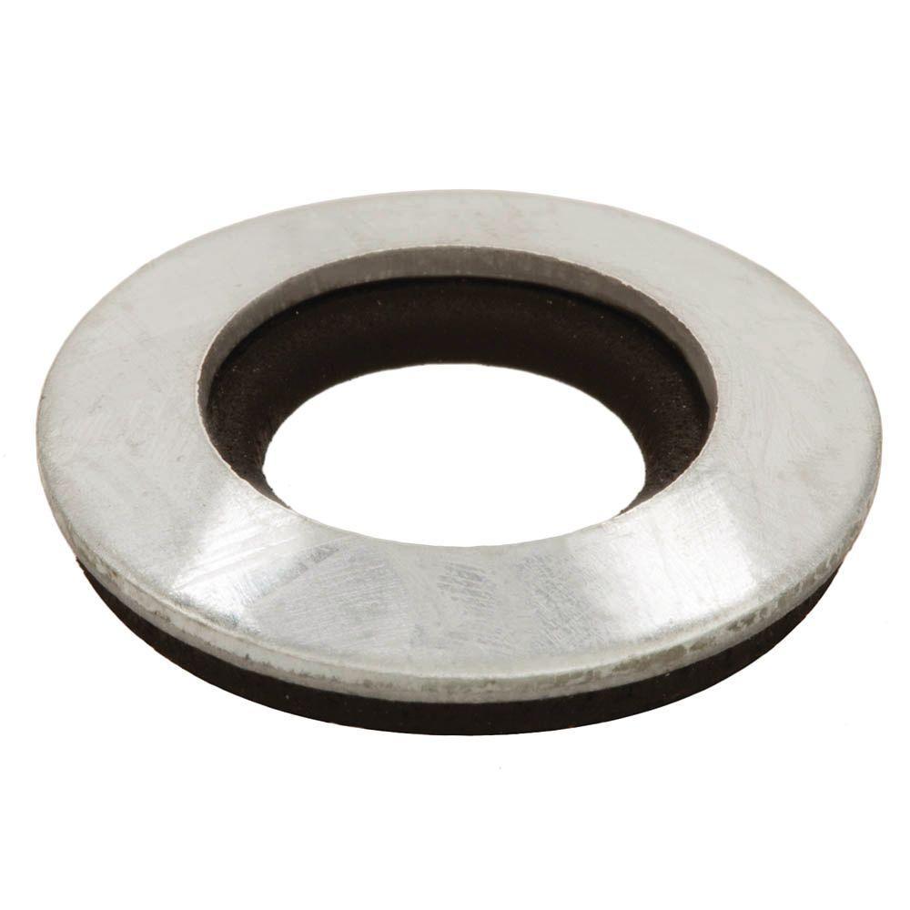 Everbilt #8 Galvanized Bonded Sealing Washer (4-Piece)