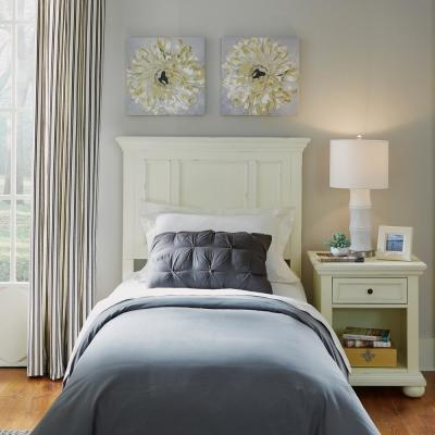 Dover White Twin Panel Headboard