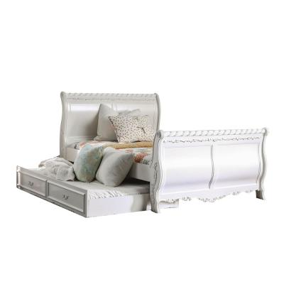 Alexandra in Pearl White Twin Bed
