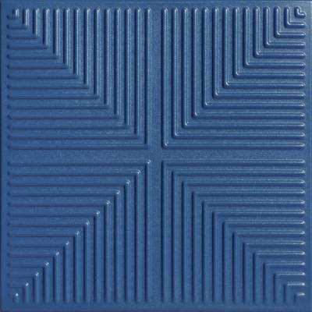 Pyramid Illusion 1.6 ft. x 1.6 ft. Foam Glue-up Ceiling Tile in Van Deusen Blue