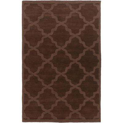 Central Park Abbey Chocolate 10 ft. x 14 ft. Indoor Area Rug