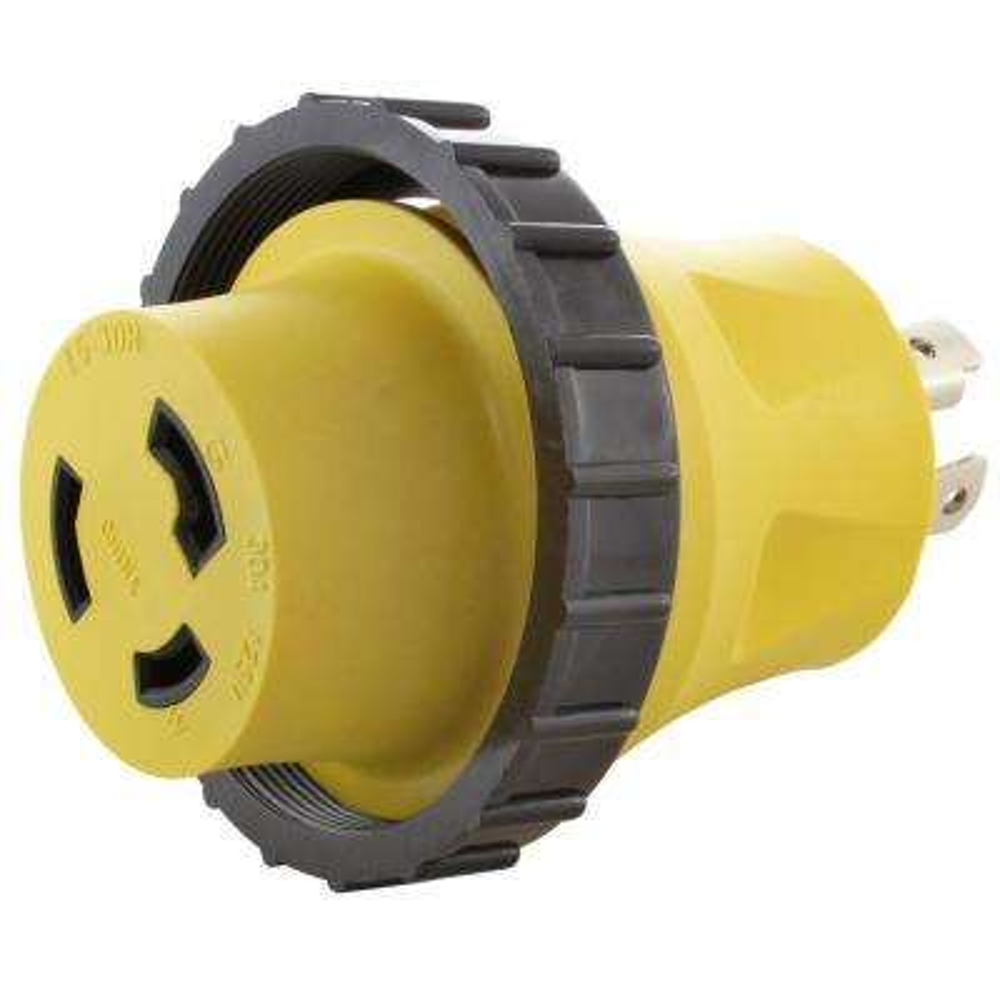 AC Connectors RV Marine Generator Adapter 30 Amp 4-Prong Generator Plug to 30 Amp RV/Marine Detachable Inlet