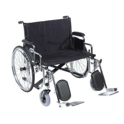 Sentra EC Heavy Duty Extra Wide Wheelchair, Detachable Desk Arms, Elevating Leg Rests and 28 in. Seat