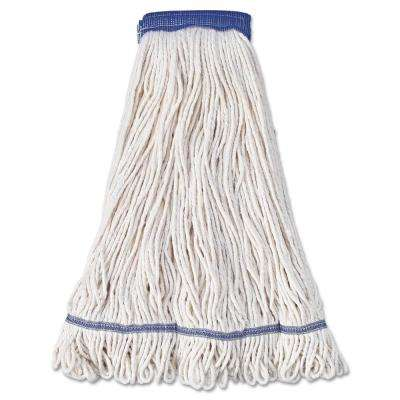 Super Loop Head Cotton/Synthetic Fiber X-Large Mop Head in White (12-Carton)
