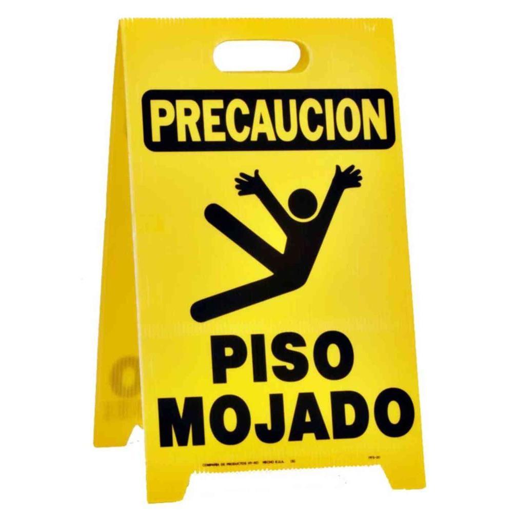 Hy Ko 20 In X 12 1 4 In Plastic Precaucion Piso Mojado